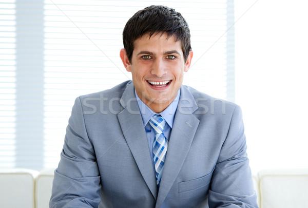 Cheerful male executive in a waiting room Stock photo © wavebreak_media