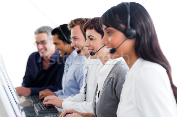 Portrait of business people working in a call center Stock photo © wavebreak_media
