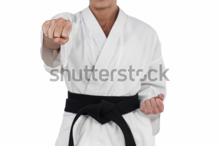 Muscular man with backpain Stock photo © wavebreak_media