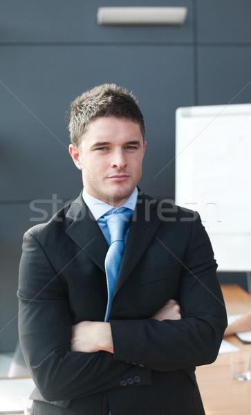 Portré üzletember megbeszélés üzletember fejhallgató csapat Stock fotó © wavebreak_media