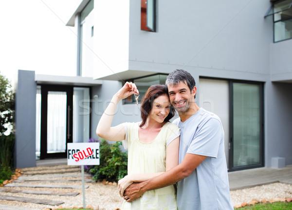 Feliz casal compra casa mulher Foto stock © wavebreak_media