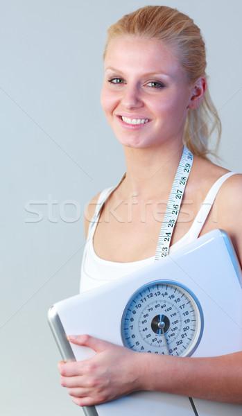 Feliz mulher balança foco sorridente Foto stock © wavebreak_media