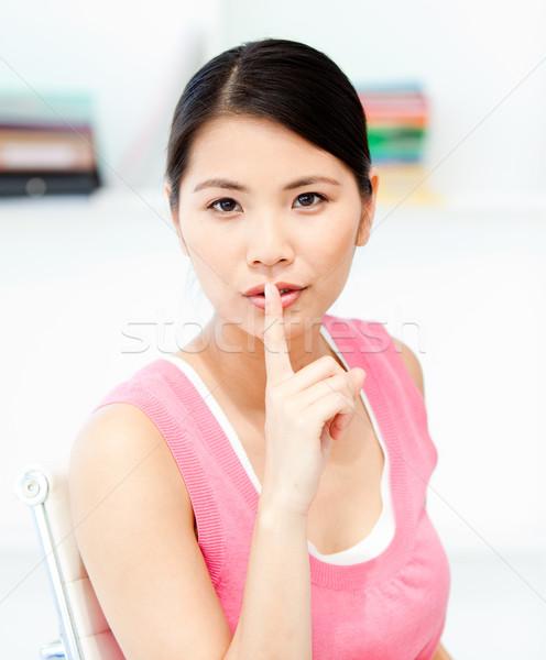 Empresária silêncio escritório retrato terno Foto stock © wavebreak_media