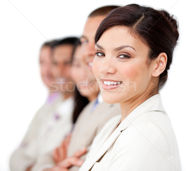 Stock photo: Confident business people standing in a line
