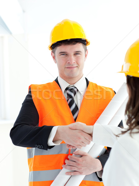 Male architect discussing with his colleague Stock photo © wavebreak_media