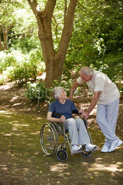 Senior couple in the wood Stock photo © wavebreak_media