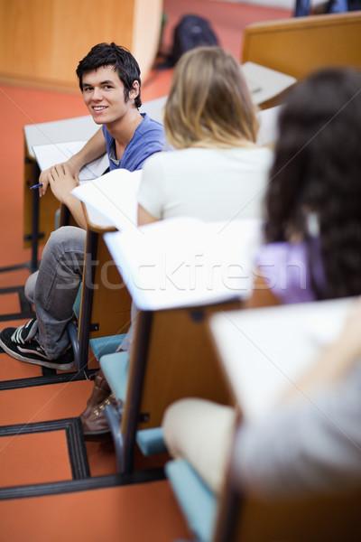 Ritratto bello studente distratto anfiteatro felice Foto d'archivio © wavebreak_media