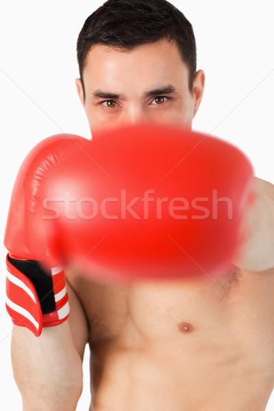 Boxeador branco esportes fundo ginásio treinamento Foto stock © wavebreak_media