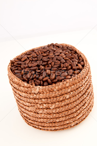Cesta completo café sementes branco Foto stock © wavebreak_media