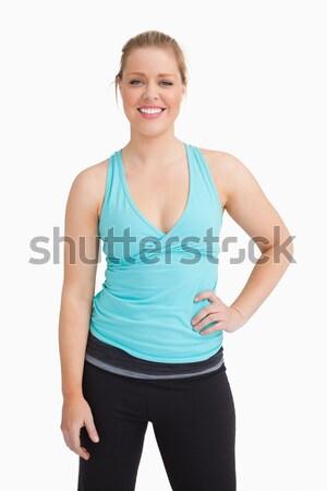 Nő kéz csípő visel sportruha fehér Stock fotó © wavebreak_media
