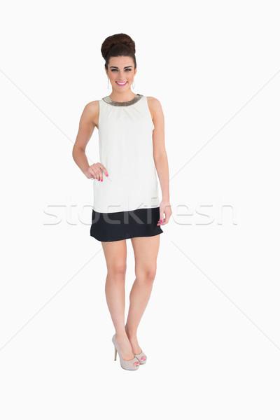 Mujer sonriente sesenta estilo cara femenino sonriendo Foto stock © wavebreak_media