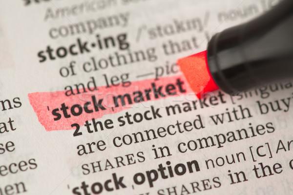 株式市場 定義 赤 辞書 金融 経済 ストックフォト © wavebreak_media