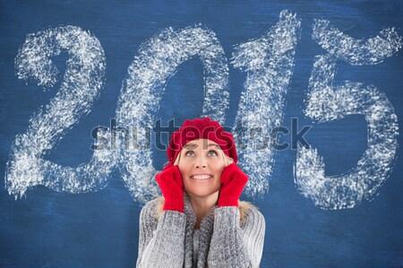 画像 セクシー サンタクロース 少女 音楽を聴く ストックフォト © wavebreak_media