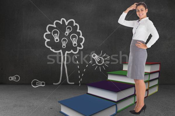 画像 笑みを浮かべて 女性実業家 手順 ストックフォト © wavebreak_media
