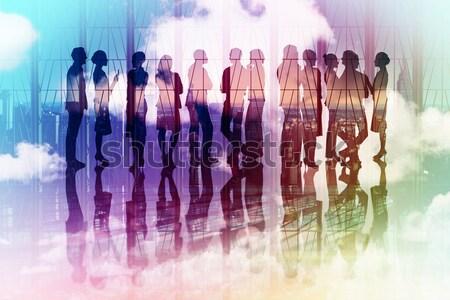 Immagine molti uomini d'affari piedi line Foto d'archivio © wavebreak_media