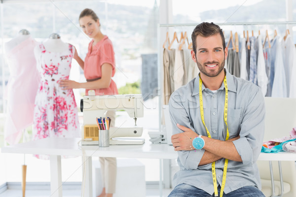 Portré férfi női divat designer dolgozik Stock fotó © wavebreak_media