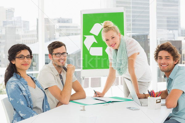 Casual team having meeting about eco policy Stock photo © wavebreak_media