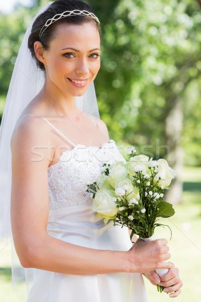 花嫁 花束 庭園 肖像 女性 ストックフォト © wavebreak_media