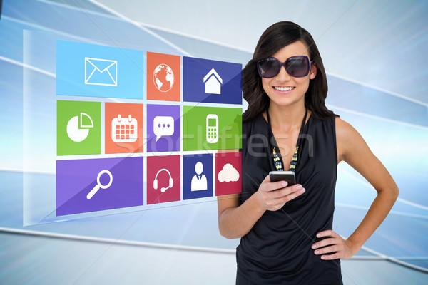 Morena aplicativo ícone menu Foto stock © wavebreak_media