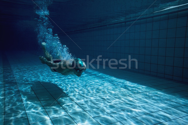 Fitt úszó képzés úszómedence szabadidő centrum Stock fotó © wavebreak_media