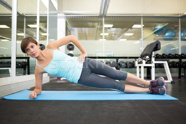 Fitt barna hajú pilates testmozgás boldog sport Stock fotó © wavebreak_media