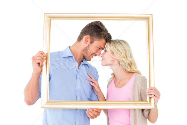 Aantrekkelijk fotolijstje witte liefde Stockfoto © wavebreak_media
