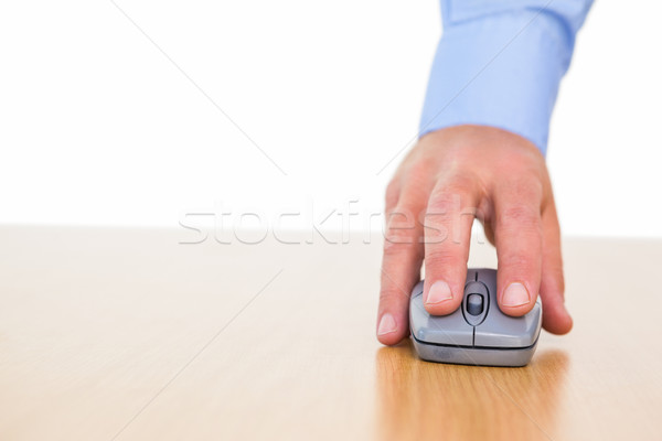 Hand of a businessman using mouse at desk Stock photo © wavebreak_media