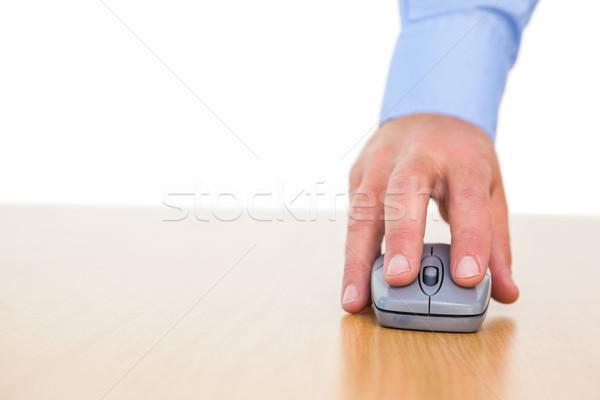 стороны бизнесмен с помощью мыши столе белый мыши Сток-фото © wavebreak_media