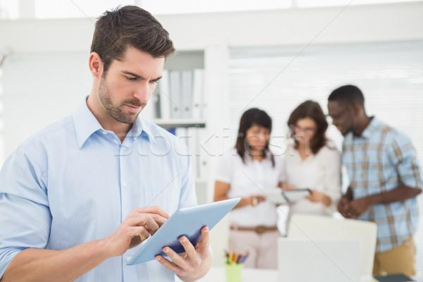 Сток-фото: человека · таблетка · коллеги · служба · команда · корпоративного