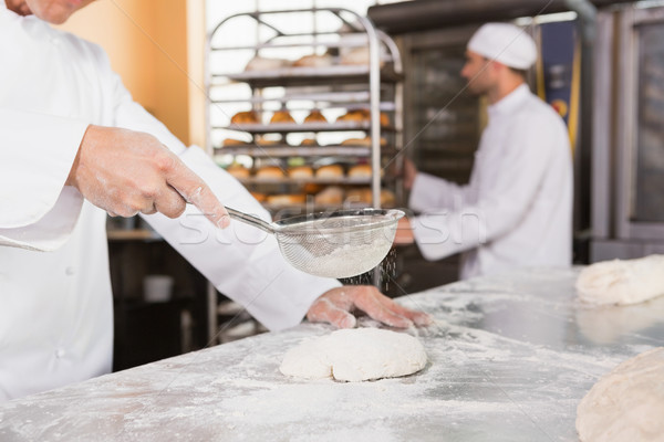 Padeiro farinha cozinha padaria negócio hotel Foto stock © wavebreak_media