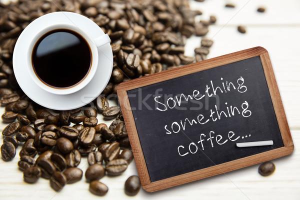 Obraz biały kubek kawy Tablica Zdjęcia stock © wavebreak_media