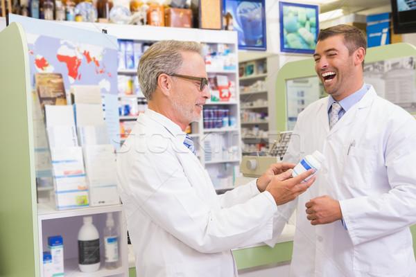 笑みを浮かべて 薬局 男 幸せ ストックフォト © wavebreak_media