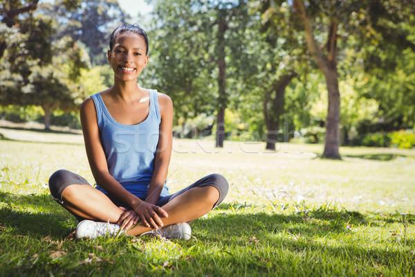 Fit woman sitting in the park Stock photo © wavebreak_media