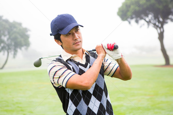 Jogador de golfe clube ombro campo de golfe golfe Foto stock © wavebreak_media