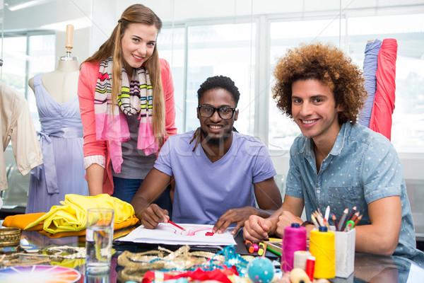 Csapat divat fiatal üzlet boldog asztal Stock fotó © wavebreak_media