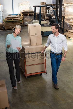 Warehouse worker with clipboard Stock photo © wavebreak_media