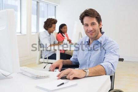 Foto stock: Empresária · surpreendido · secretária · escritório