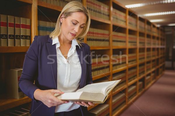 深刻 司書 読む 図書 ライブラリ 女性 ストックフォト © wavebreak_media