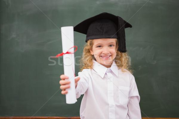 Graduação seis diploma escola primária escolas Foto stock © wavebreak_media