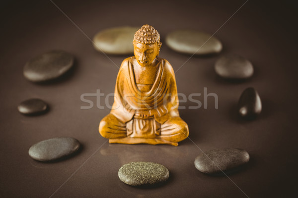 Buddha statue with stone circle Stock photo © wavebreak_media