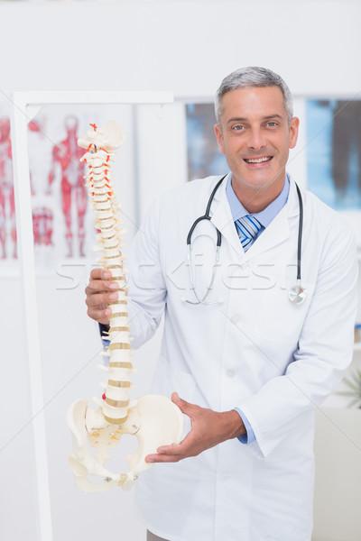 Felice medico anatomica colonna vertebrale clinica Foto d'archivio © wavebreak_media