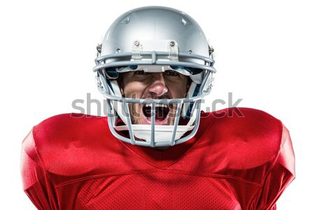 Composite image of aggressive american football player in red je Stock photo © wavebreak_media