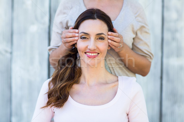 Mulher reiki terapia pele cabeça Foto stock © wavebreak_media