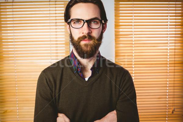 Zakenman naar camera kantoor gelukkig Stockfoto © wavebreak_media