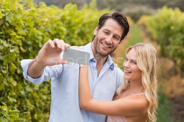 Jovem feliz casal uva campos Foto stock © wavebreak_media