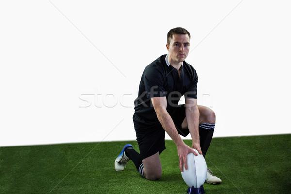 Rugby jugador listo caída patear Foto stock © wavebreak_media