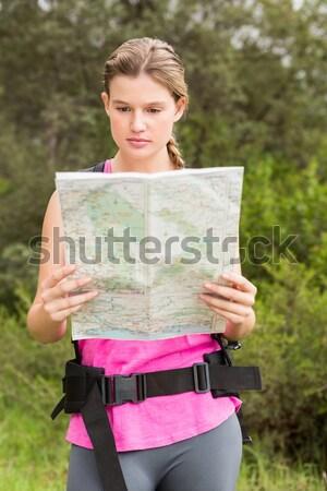 少女 読む 地図 森林 クローズアップ 子 ストックフォト © wavebreak_media