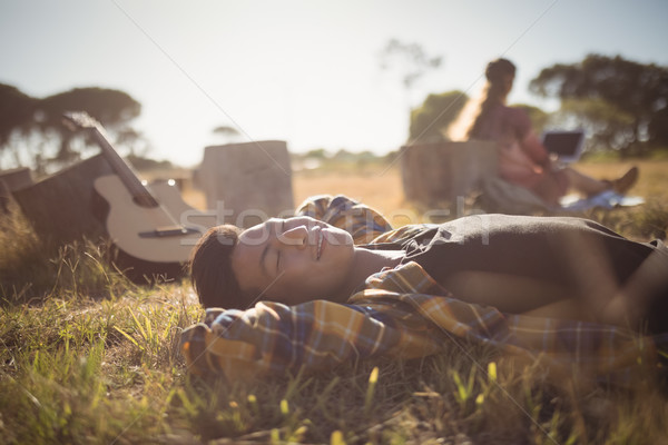 человека травянистый области женщину Сток-фото © wavebreak_media