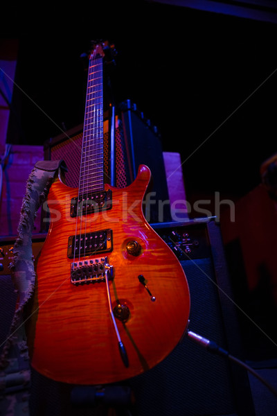 Electronic guitar in recording studio Stock photo © wavebreak_media