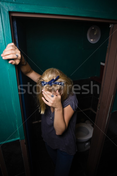 Eszméletlen nő áll illemhely részeg bár Stock fotó © wavebreak_media